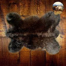 Faux Fur Throw Rugs Faux Fur Pelt Rug Mini Mountain Bear Plush Shag Luxury Fur