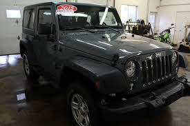 jeep wrangler grey 2015 used 2015 jeep wrangler sport 3 6l 6 cyl 6 spd manual 4x4 2 door