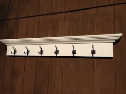 entry way coat rack shelf with 6 hooks by rayscustomwoodwork