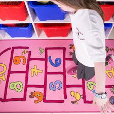 Kid Rug Interactive Pink Hopscotch Rug Kukoon