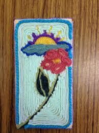 yarn painting 4th grade art project art pinterest yarn