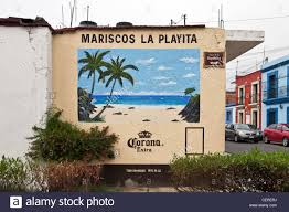 painting murals on outside walls home design ideas stock photo beautifully colored advertising mural of idyllic tropical beach hand painted on outside wall of