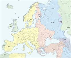 Time Zone Map World Europe Time Zones 2004 Full Size