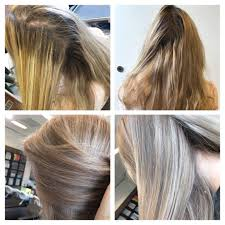 before and after vorher nachher blond hair illumina color