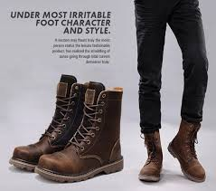 mens leather riding boots for sale sale brand new fashion men s motorcycle boots waterproof genuine