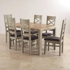 Solid Oak Dining Table And 6 Chairs Oak Extending Dining Table And 6 Chairs Zagons Co