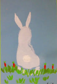 bunny footprint art hand u0026 footprint art pinterest footprint