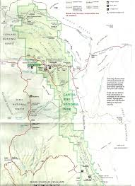 Us National Parks Map Capital Reef National Park Map