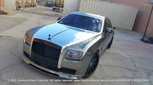 roll royce diamond project rolls royce ghost by dbx wrapped in two tone black and