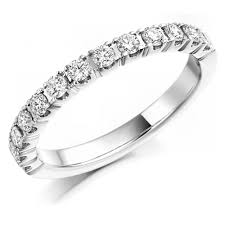 half eternity ring the raphael collection platinum 0 50ct brilliant cut diamond