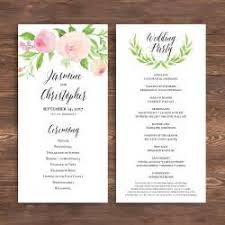 wedding programs wording templates free 28 images american