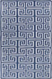 Navy Blue Rug Greek Key Outdoor Woven Rug Navy Blue Blue And White Coastal