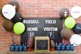 Diy Football Decorations Football Party Table Diy Football Drink Tub Make Life Lovely