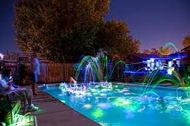 glow in the party decorations glowing pool party with glow sticks activedark glowing ideas