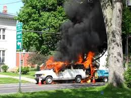 liverpool new york utility van with 20 cases of spray paint burns
