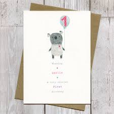 personalised first birthday or pick your age koala card by the