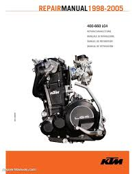 1998 2005 ktm 400 660 lc4 repair manual u2022 21 99 picclick uk