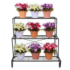 tiered flower pot stand 127 beautiful decoration also tier metal