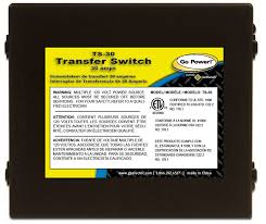 amazon com go power ts 30 30 amp automatic transfer switch