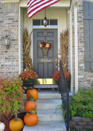 Outdoor Fall Decorating Ideas by Front Doors Ideas Fall Front Door Decoration 3 Outdoor Fall