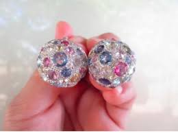 diamond earrings philippines 42 carat diamond with gemstones white gold earrings 18k jewelry