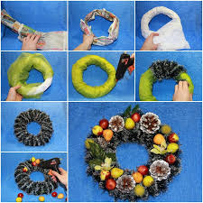 Beautiful Decorated Christmas Wreaths by Wonderful Diy Beautiful Christmas Wreath From Newspaper
