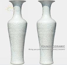 Large Ceramic Vases Jingdezhen Crystalline Glazed White Large Ceramic Floor Vase For