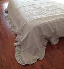 shabby chic pre washed 100 natural flax linen bedding sheet