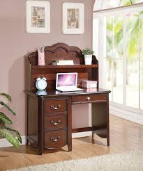 Student Desk With Hutch Cecile Cherry Finish Student Computer Desk Hutch