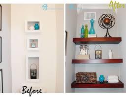 decorations 8ft floating shelf with hidden storage diy build