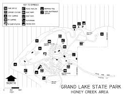 Raccoon Creek State Park Map by Oklahoma State Parks Campsite Reservation System