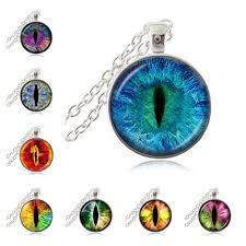 eye pendant necklace images Cat eye pendant necklace eye of sauron glass dome cabochon pendant jpg