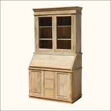 furniture drop front secretary desk with hutch and cabinet
