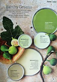 paint color palette earthy greens interiors by color