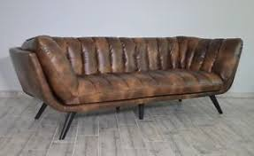 canapé cuir naturel canape sofa salon cuir veritable naturel 3 personnes style ancien