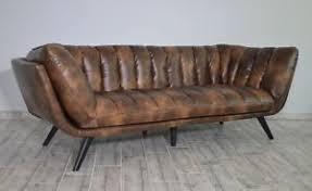 canape style ancien canape sofa salon cuir veritable naturel 3 personnes style ancien