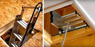 hide the pull down attic stairs u2013 small home ideas