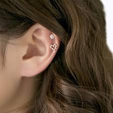 heart cartilage cz heart cartilage stud earring serendipity in seoul