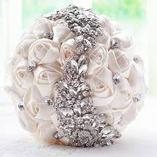 flower bouquets handmade top quality brooch bouquets silk bridal