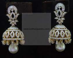 diamond earrings india diamond earrings designer diamond front back bali earrings