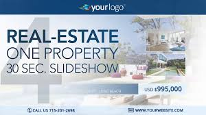 real estate one property 30s slideshow 8 after effects template