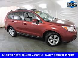 red subaru forester 2015 ganley westside subaru vehicles for sale in north olmsted oh 44070