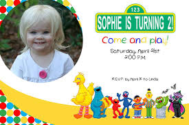 Birthday Invitation Cards For Kids First Birthday Sesame Street Birthday Invitations Birthday Party Invitations