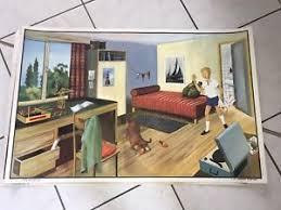 chambre cirque affiche scolaire oge hachette 1960 la chambre d enfant le cirque