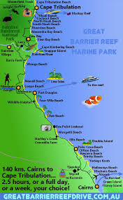 Choice Map Maps Of The Great Barrier Reef Drive From Cairns To Cape Tribulation