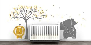 baby wall decals murals littlelion studio baby zoo mural wall decal collection