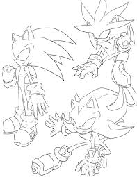 sonic coloring picture