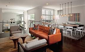 Brown Leather Sofa Living Room Camel Leather Sofa Dining Room Eclectic With Area Rug Blue Camel