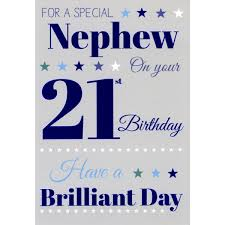 nephew 21st birthday greeting card male greeting cards