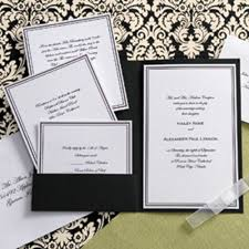 pocket invitations black and white elegance pocket invitation kit wilton